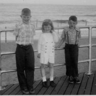 My brother, John ~ Me in the Middle ~ My brother, Richard