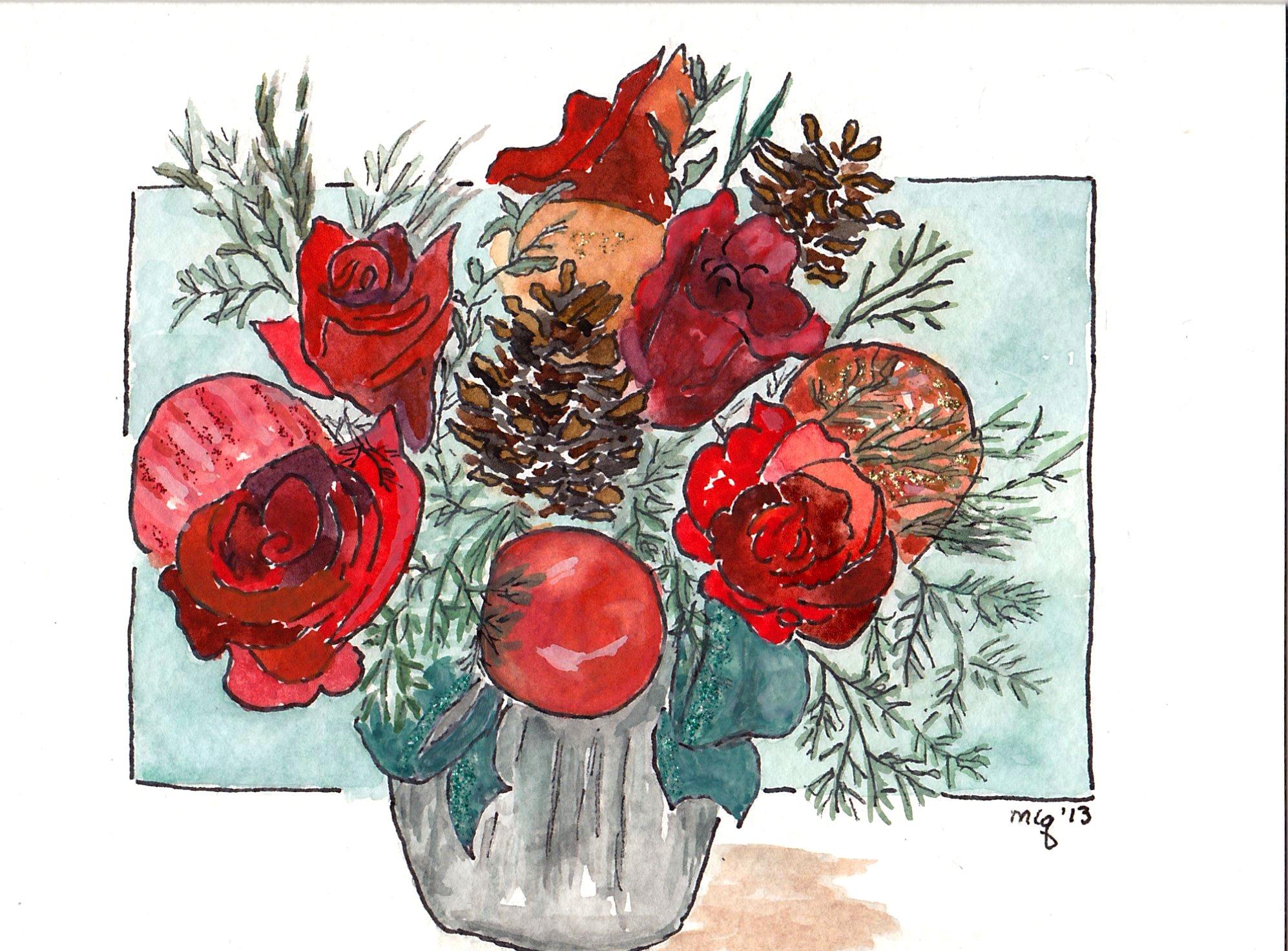 Christmas Roses #2 (2)