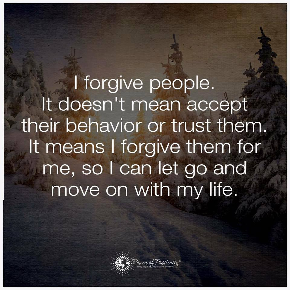 Forgive not Trust