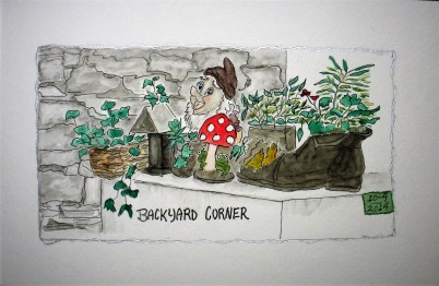Backyard Corner Dressmaker's Cottage #3