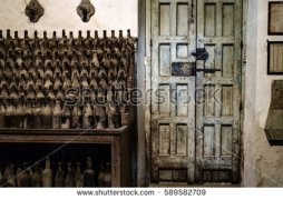 Cellar door and bottles