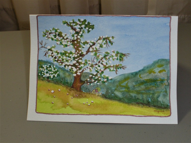 Strathmore Tree with masking fluid