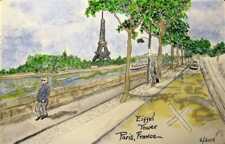 June 2019 Eiffel Tower Paris