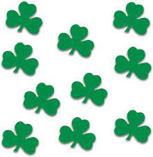Amazon.com: Beistle Green Shamrock Cutouts 10 Piece St Patrick's Day  Decorations, Wall Silhouettes: Kitchen & Dining